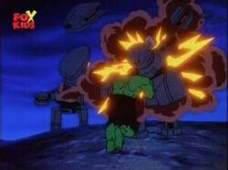 Hulk Throws Army Robot