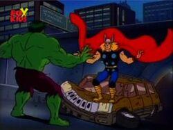 Thor Smashes Jeep
