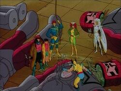 X-Men Among Sentinel Debris