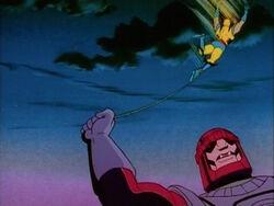 Sentinel Swings Wolverine