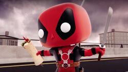 Deadpool Holds Chimichanga CMCG