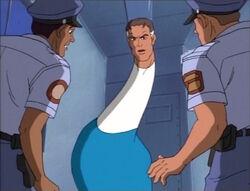 Mister Fantastic Rises Behind Prison Guards