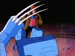 Wolverine Breaks Through Danger Room Wall