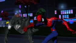Spidey Punches Turbo Jet SMTNAS