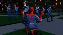 Police Arrest Spider-Man SMTNAS