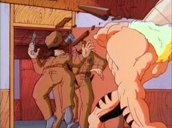 Sabretooth Smacks Court Guards