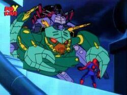 Tri-Slayer Confronts Spider-Man