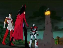 Avengers Watch Ultron Flee
