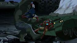 Cap Saves Iron Man UA