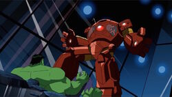 Hulk Watches Wasp Fight Hulkbuster AEMH