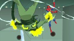 Spider-Man Throws Electro SSM
