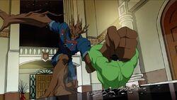 Groot Smashes Hulk AEMH