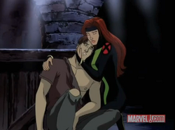 Scott is saved by Jean from Mystique XME