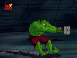 Mjolnir Drags Hulk