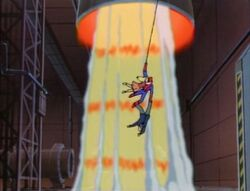 Spider-Man Swings Felicia Jameson to Safety