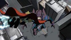 Thor Flies at Galactus AEMH
