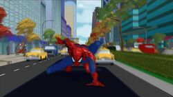 Spider-Man Lands On Limo SMTNAS