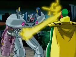 Vision Blasts Ultron