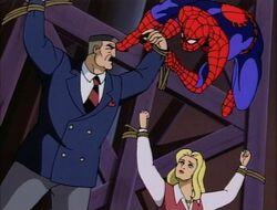 Spider-Man Unties Hostage Jameson