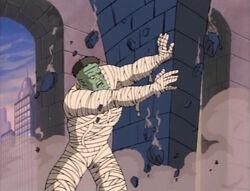 Frankensteins Monster Destroys Column