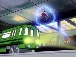Jean Saves Mob from Subway