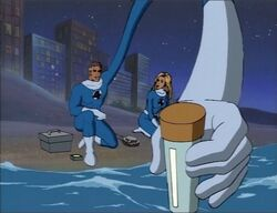 Mister Fantastic Grabs Seawater Sample