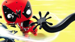 Deadpool Cuts Venom Tentacle CMCG