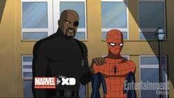 Fury Comforts Spider-Man USM