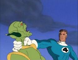 Mister Fantastic Threatens Skrull