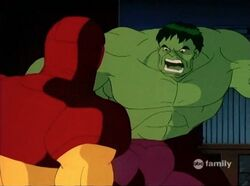 Hulk Iron Man is Enemy