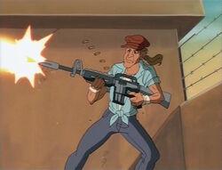 Skink Fires Gun