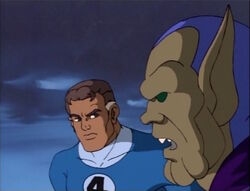 Mister Fantastic Lies to Torch-Skrull