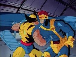 Wolverine Sucker Punches Cyclops