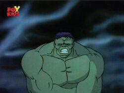 Grey Hulk Becomes Green