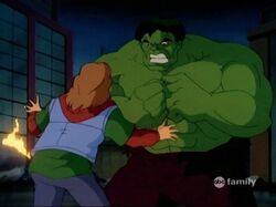 Rick Asks Hulk Not to Attack Him