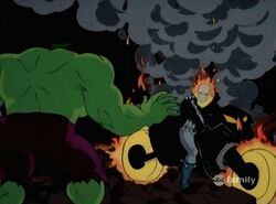 Ghost Rider Confronts Hulk