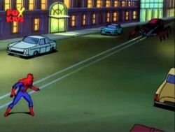 Black Widow II Approaches Spider-Man Street