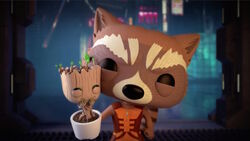 Groot Rocket Laugh at Collector BNS