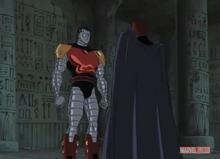Magneto scolds Colossus XME