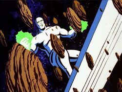 Silver Surfer Attacking Asteroid Belt
