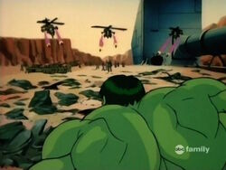 Hulk Sees Helicopters Fire