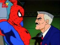 Jameson Nears Captured Spider-Man