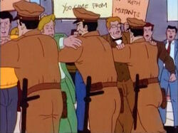 Police Hold Back Anti-Mutant Protesters
