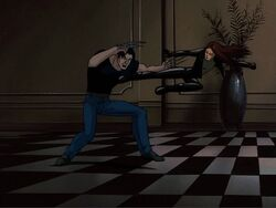 X-23 Kicks Logan Into Wall XME
