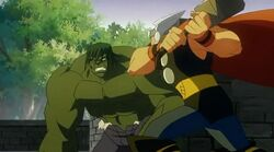 Thor Attacks Hulk HV