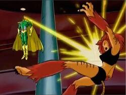Vision Blasts Tigra
