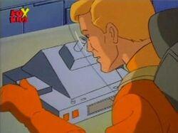 Donald Checks Microscope