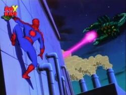 Spider-Man Sees Scorpion Robot
