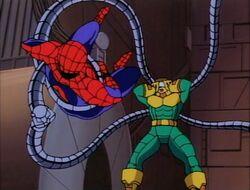 Doctor Octopus Webbed Eyes Flails Spider-Man