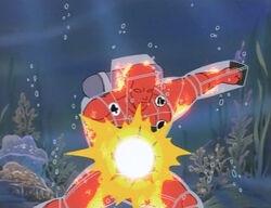 Torch Underwater Fires Napalm
